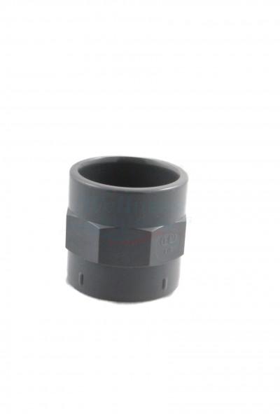 """PVC Verbinder 50mm x 1.5"""" Innengewinde"""
