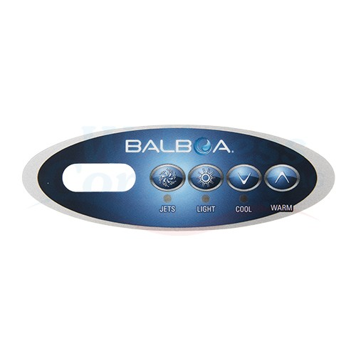 Whirlpool Display Aufkleber Balboa VL200 - 4 Knöpfe, 1 Pumpe ohne Blower