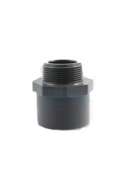 "PVC Übergangsmuffen-Nippel 50/63mm mit 1.5"" Gewinde"