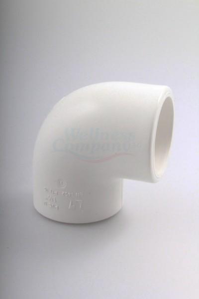 "1.5"" PVC Whirlpool Rohrbogen 90° Grad SxS"