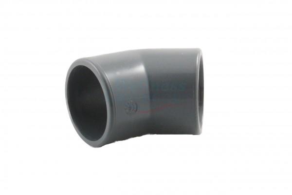 PVC-Winkel 45°, 50mm Durchmesser