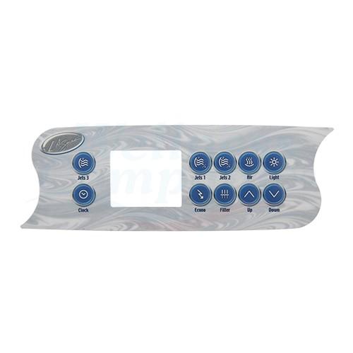 L.A. Spas Whirlpool Display Steuerung Sticker Overlay Aufkleber - 10 Tasten
