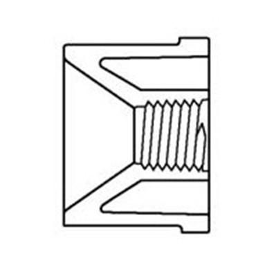 """Whirlpool Schlauch/Rohr Reduzierung von 2"""" S auf 1/4"""" Gewinde"""