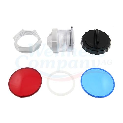 """3"""" Whirlpool Unterwasser-Licht Set mit zwei Farbscheiben"""