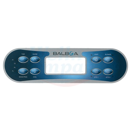 Balboa Whirlpool Display Aufkleber ML700 2 Pumpen + Air