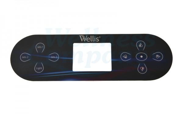 Wellis Whirlpool Display Aufkleber zu TP800