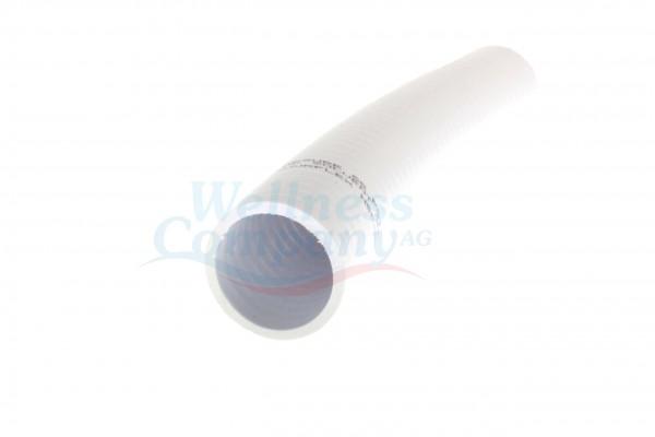 """Flexibler 1 1/2"""" PVC Whirlpool / Swim-Spa Schlauch weiss"""