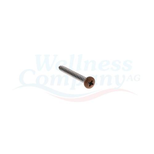 Hydropool Schraube Whirlpool 37mm x 4mm Braun (Cedar)