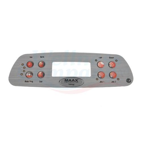 Whirlpool Display Aufkleber Maax Spa 8 Button MX700