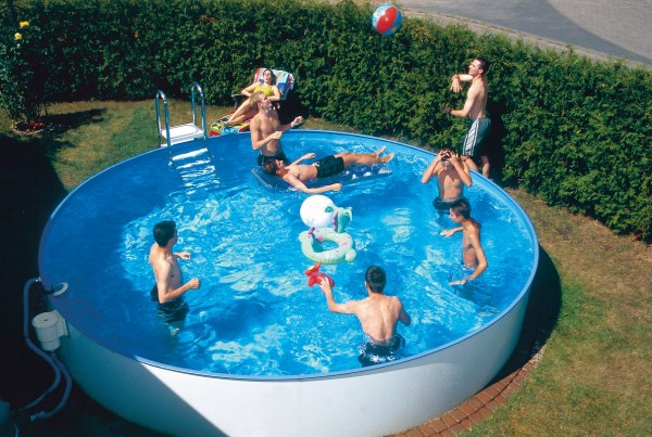 Rundschwimmbecken Aufstellbecken mit Kombi-Handlauf 0,8 mm Innenhülle