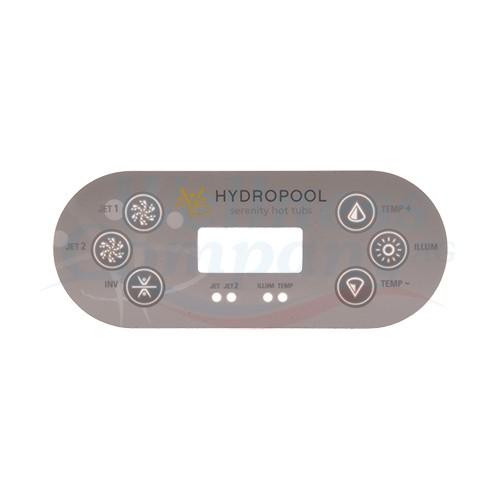Hydropool TP600 Balboa 2 Pumpen Aufkleber Overlay Sticker